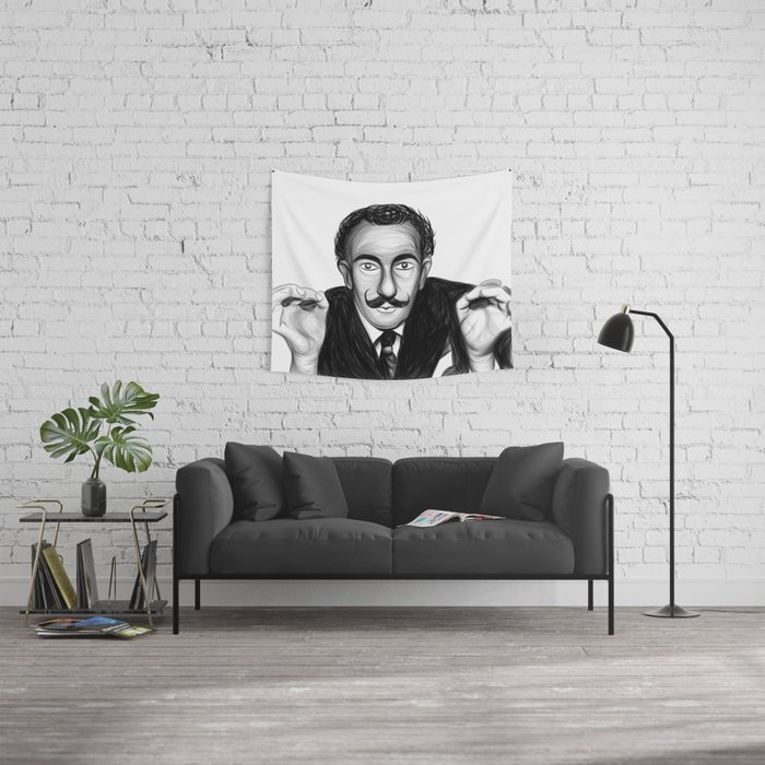 Dali Portrait Wall Tapestry
