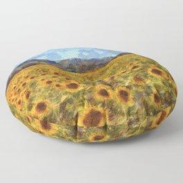 Vincent Van Gogh Sunflowers Floor Pillow