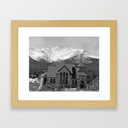 Chapel On The Rock Framed Art Print