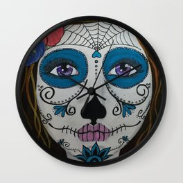 Day of the Dead Girl1 Wall Clock