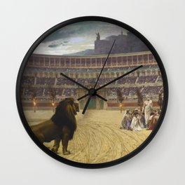 Jean-Leon Gerome - The Christian Martyrs' Last Prayer Wall Clock