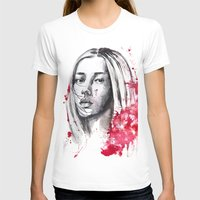asia T-shirts featuring asia by Lua Fraga