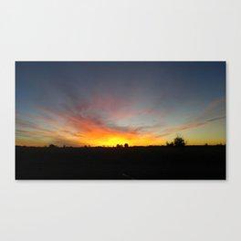 Commerce City Sunrise Canvas Print