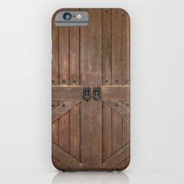 Brown Door iPhone Case