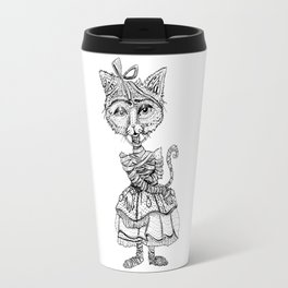 Mimsy the Mummy-Cat Ready for the Monster Mash Travel Mug
