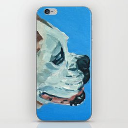 Holly the White Boxer Dog iPhone Skin