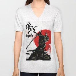 Samurai Invader Unisex V-Neck