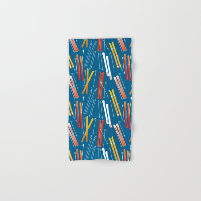Colorful Ski Pattern Hand & Bath Towel
