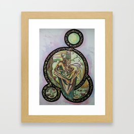 Swamp Shaman Lady Framed Art Print