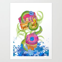 cupcake monster Art Print