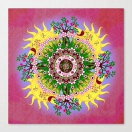 Garden Blessings Om Canvas Print