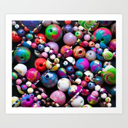 Bead Crazed Art Print
