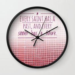 Saint Sinner Wall Clock