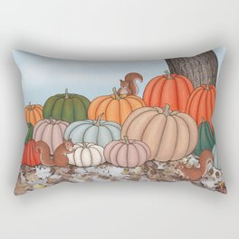 heirloom pumpkins, squirrels, & the oak tree Rectangular Pillow