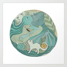 Planet Earth 1 Art Print