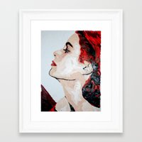 grace Framed Art Prints featuring Grace by Anna McKay
