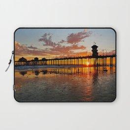 Sunset HB Pier / South Side   ( 9/7/13 ) Laptop Sleeve