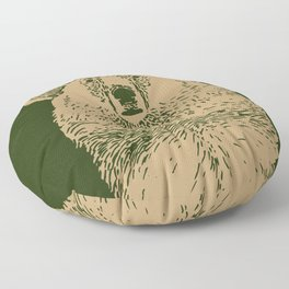 Kodiak Bear Floor Pillow