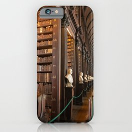 The Long Room of Trinity College Library in Dublin, Ireland iPhone Case