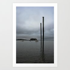 Lubec in the morning Art Print