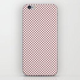 Dusty Cedar Polka Dots iPhone Skin