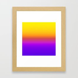 Yellow and Purple Saturated Gradient 005 Framed Art Print