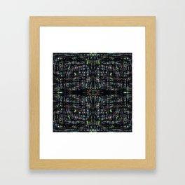 Green Lights At Night Framed Art Print