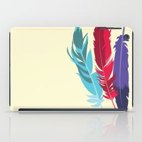indie iPad Cases featuring Indie Feathers  by Minette Wasserman