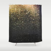 sparkle Shower Curtains featuring Sparkle by Jane Lacey Smith