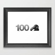 100th Monkey Framed Art Print