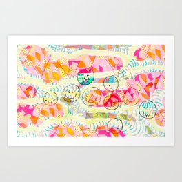 Patterns and smiles Art Print