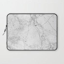 Nordic White Marble Laptop Sleeve