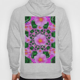 May Babies Emerald Gems & Pink Roses Hoody