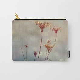 Soft Queen Anne's Lace and Bokeh Carry-All Pouch