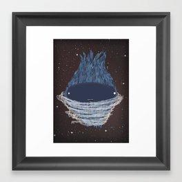 Little monster planet  Framed Art Print