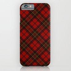 Adorable Red Christmas tartan iPhone 6 Slim Case