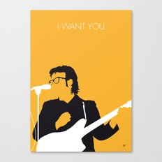 No067 MY ELVIS COSTELLO Minimal Music poster Canvas Print