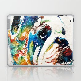 Bulldog Pop Art - How Bout A Kiss - By Sharon Cummings Laptop & iPad Skin