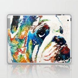 Bulldog Pop Art - How Bout A Kiss - By Sharon Cummings Laptop & iPad Skin