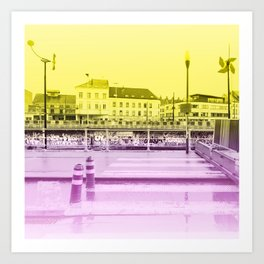 Brussels Canal District Art Print