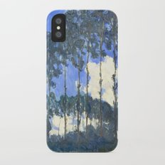 Monet : Poplars on the River Epte Slim Case iPhone X