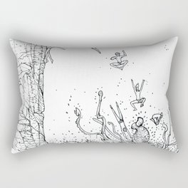 DIVING INTO THE MOUTH OF THE SEA BEAST Rectangular Pillow
