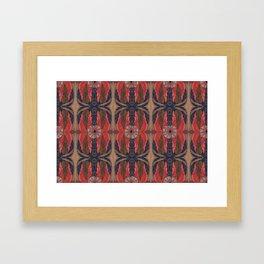FLAMING LEAF WEBS Framed Art Print