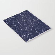 Constellation Map Indigo Notebook