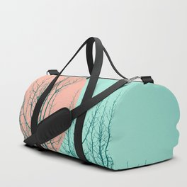 Birds and tree silhouette 2 Duffle Bag
