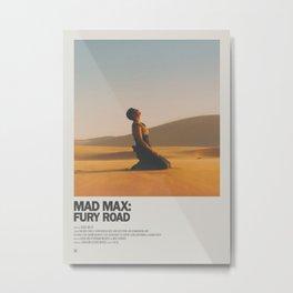 Mad Max Fury Road Minimal Movie Poster No 01 Metal Print
