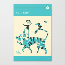 T is for TIGER Canvas Print