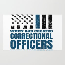 Christian Correctional Officers American Flag Rug