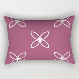 Seamless Geometric White Abstract Pattern Rectangular Pillow