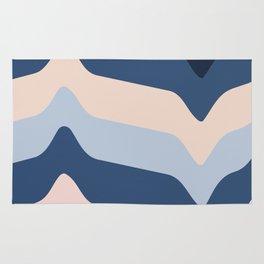 Modern Scandinavian Blue Abstract Rug